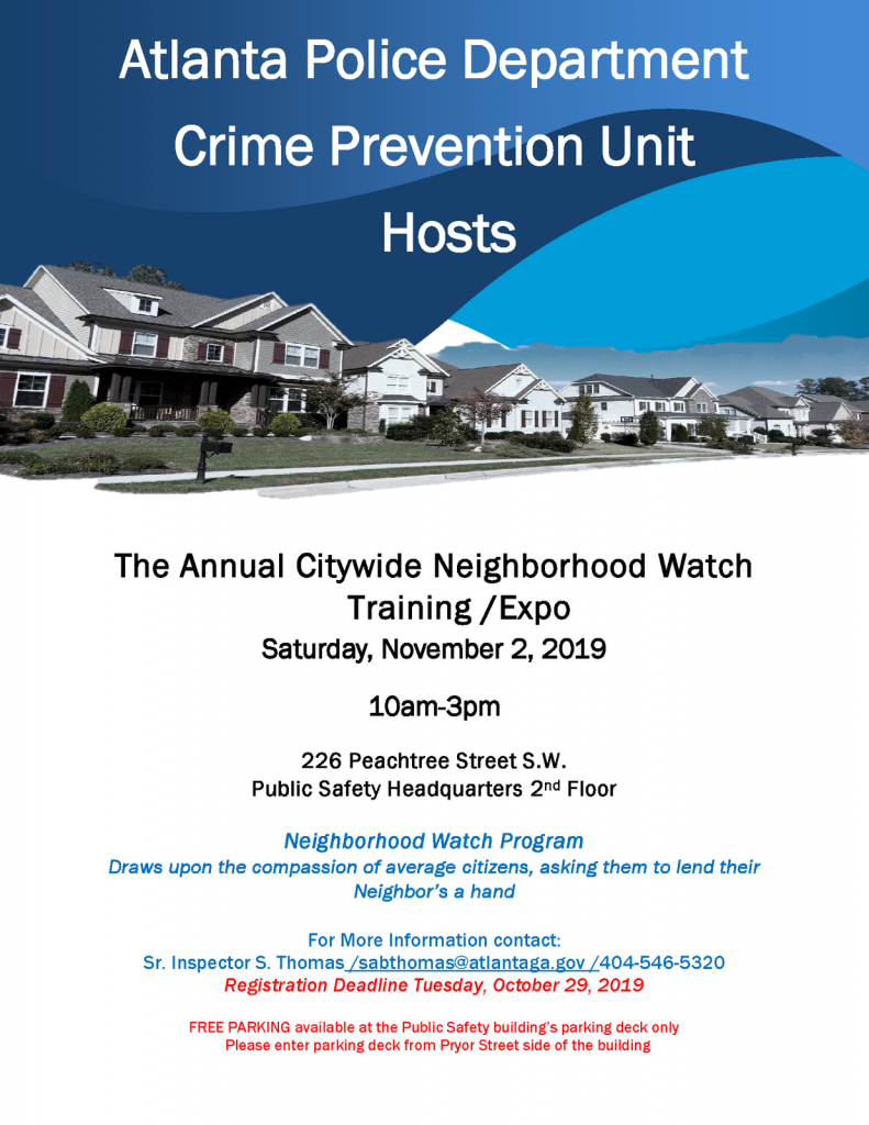 2019 Annual Citywide Neighborhood Watch Training