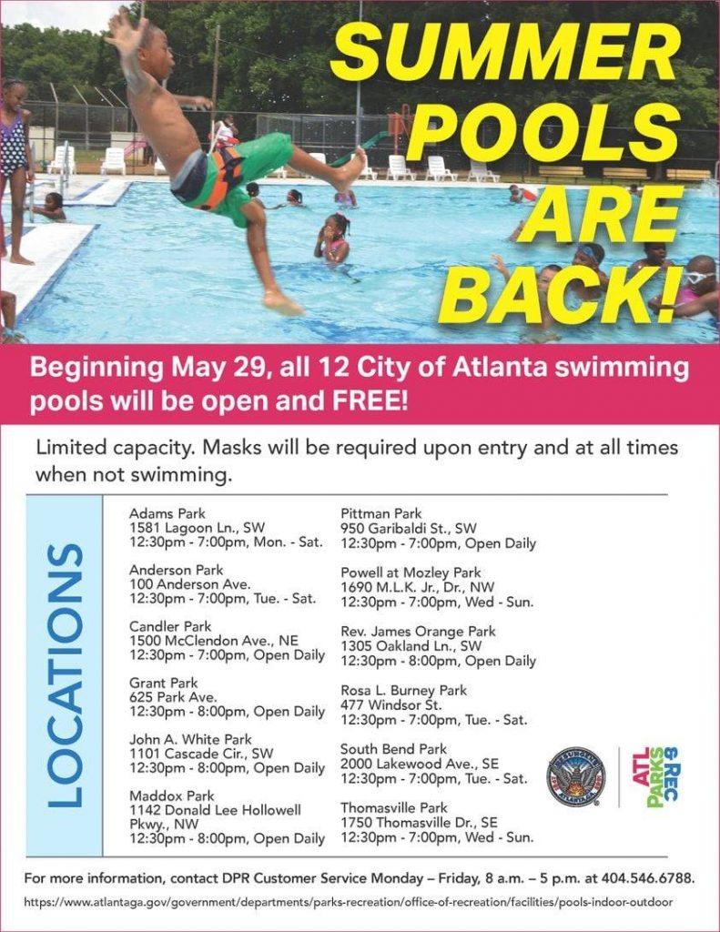 Parks & Rec Swimming Pool Opening 2021